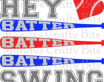 SVG Hey Batter Batter  Swing