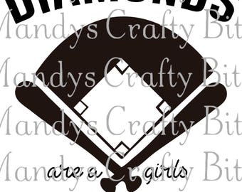 SVG and DXF Diamonds are a Girls Best Friends
