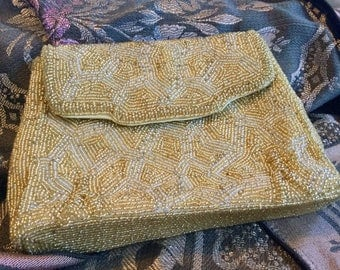 Vintage Wallorg hand beaded clutch