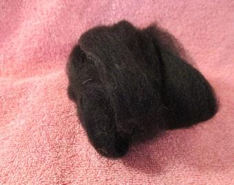 Baby Alpaca Roving in True Black