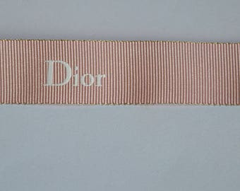 Authentic Dior pink ribbon 3 meters piece for scrapbooking gift wrapping decoration handmade design jewelry paper design