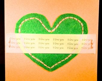 Green Love Heart