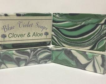 Clover and Aloe Soap   Soap   Artisan Soap   Blue Violet Soaps
