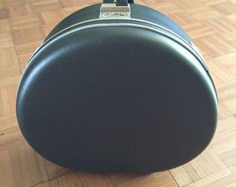 Vintage Samsonite Silhouette Round Hat Box Luggage