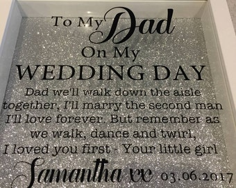 Father Daughter wedding frame