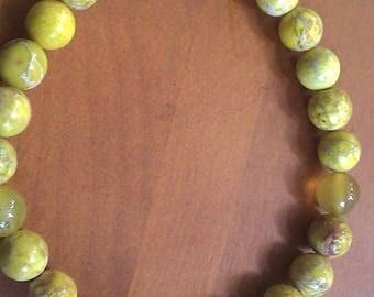YELLOW BRACELET Buddha Bracelet Jasper