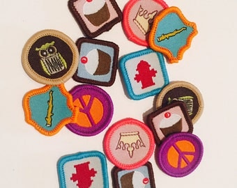 sew-on patch, embroidered applique