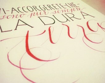 Lettering shown calligraphy