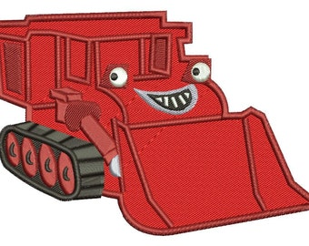 Muck Toy Bulldozer Bob the Builder Embroidery Design 3 sizes instant download