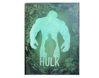 superhero Hulk inspired spray painting