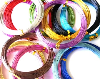 Aluminium wire 0.8mm - 20 gauge wire - 20 metres - assorted colours - craft wire
