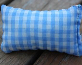 Blue picnic pattern catnip pillow