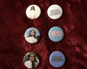Lana Del Rey set of 6 badges