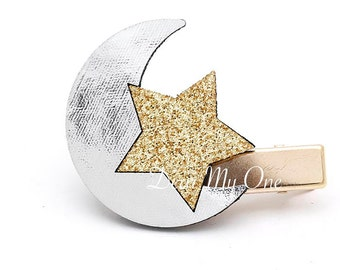 Star and Crest, Star, Crest, Star Hair Clip, Crest Hair Clip, Star Hair Pin, Kids Accessories, Baby Hair Clip, Star Hair Accessories