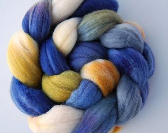 Hand dyed MERINO roving spinning felting fibre, 100g/3.5oz