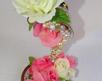 Teacup Centerpiece Bridal Shower Center Piece Baby shower centerpiece Alice and wonder land inspiration Teacup