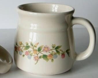 Set of Two, Stoneware, Coffee Mugs, Vintage, Drinkware