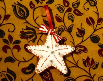 Star Christmas Decoration: Red and White