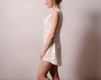 Linen white nightdress/linen sleepwear/linen nightgown/summer nightdress/homewear/white nightgown