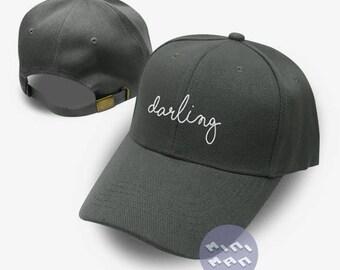 Darling  Dad Hat Embroidery  Baseball Cap Tumblr Pinterest Unisex Size