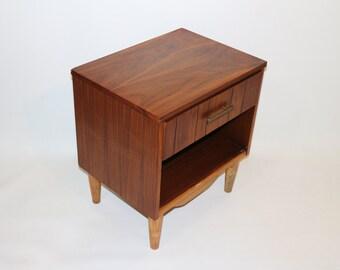 Restored Vintage Kroehler Walnut Nightstand