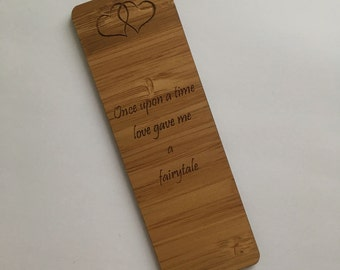 Wooden bookmark, Valentine's day gift, gift for her, gift for him, 5th anniversary, anniversary gift, wooden gift