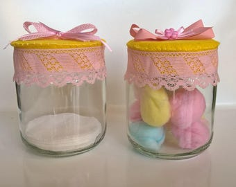 Cotton jars decorated jars with decorated door stopper home decor