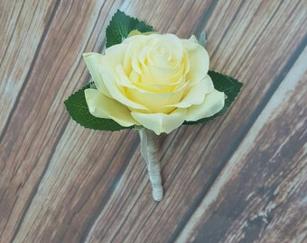 yellow rose boutonniere mens yellow buttonhole yellow rose buttonhole pastel yellow pinhole