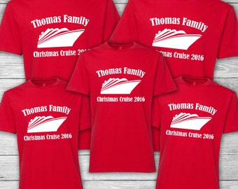 Family Christmas Cruise Shirts - Personalized