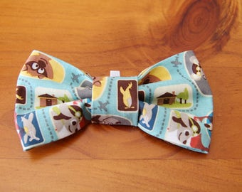 Dog Bow Tie - Blue Dog Bow Tie - Dog Collar Bow Tie - Dog Bowtie