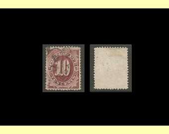 1884 United States Used Postage Due Stamp VF/EX Scott #J19 CV 35.00 - Save 60%+!