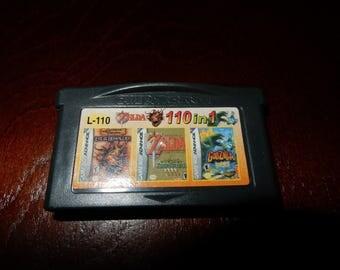 110 en 1 Multi Cart para Nintendo Game Boy Advance Zelda (raro), etcetera.