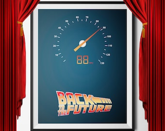 Back to the Future, Back to the Future Print, Back to the Future Printable, Digital Download, Printable Wall Art, Marty Mcfly, Delorean, doc
