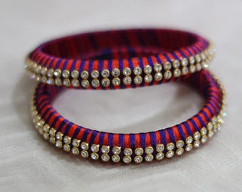 Silk Thread Bangle Set