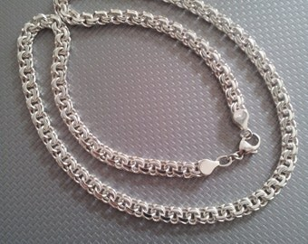 Handmade NECKLACE silver CHAIN