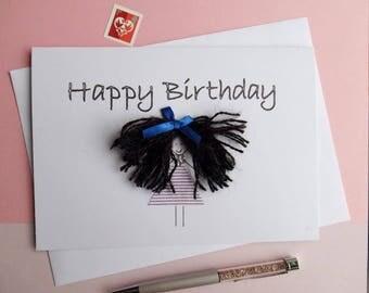 Funny Birthday Card - Funny Card - Funny Birthday - Birthday Card Funny - Funny Card For Her - Funny Birthday Card Friend - Bad Hair Day