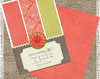 Printable Ladies Birthday Invitation