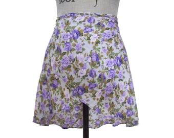 Purple Graden Ballet Wrap Skirt  - Medium