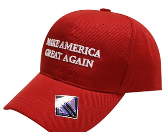 Capsule Design Trump Slogan Make America Great Again Velcro Cap Red