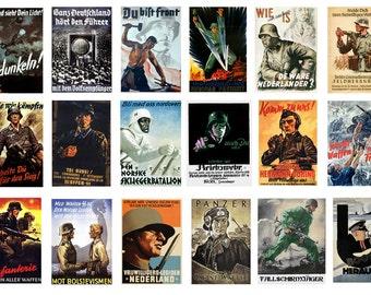 1:32 scale model German wartime propaganda war posters Germany WW2