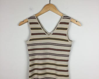 70s Striped Tank Size Small