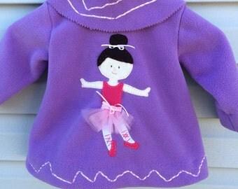 Girls Fleece Swing Coat Ballerina