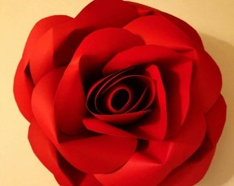 Rose paper flower decor