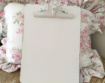 "Shabby Chic Clipboard, Office Supplies, 9""x12"", Off White, Lightly Distressed"