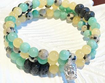 Essential Oil Diffuser Bracelet / Wrap Bracelet / Stackable Jewelry