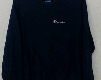Rare champion sweatshirts XL size blue navy colour