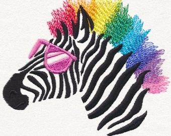 Rainbow zebra - wild zebra - sunglasses