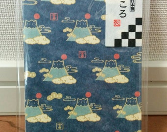 "a set of small envelope (made in Japan), using Japanese traditional paper ""WASHI"", Mt.Fuji"