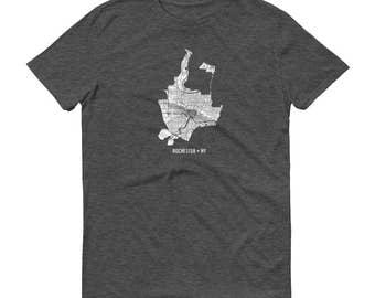 Rochester Shirt, Rochester NY, Rochester TShirt, Rochester Gift, Rochester Tee, Rochester Map, Upstate New York, New York Map, Rochester Art