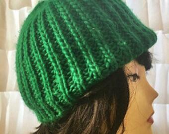 Vintage Green Acrylic Hat